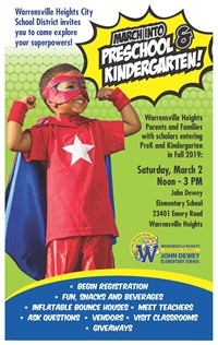 Explore your Superpower!  Join us as we March into PK/Kinder on Saturday, March 2nd!