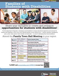 Family Town Hall Meeting--Friday, April 12th