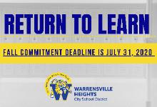 Fall 2020 Commitment Form & Return to Learn Framework