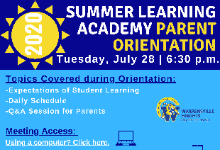 2020 Summer Learning Academy Parent Orientation