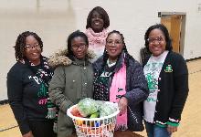 Alpha Kappa Alpha Sorority provided Thanksgiving Baskets to Warrensville's ESL families