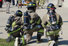 Warrensville Fire Tech students in the hot zone this Summer