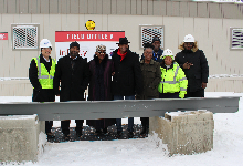 Beam Signing Marks Construction Milestone for New Elementary School Building