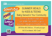 FREE Summer Meals for WHCSD Kids & Teens