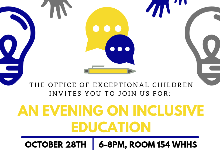 An Evening on Inclusive Education, Join Us!