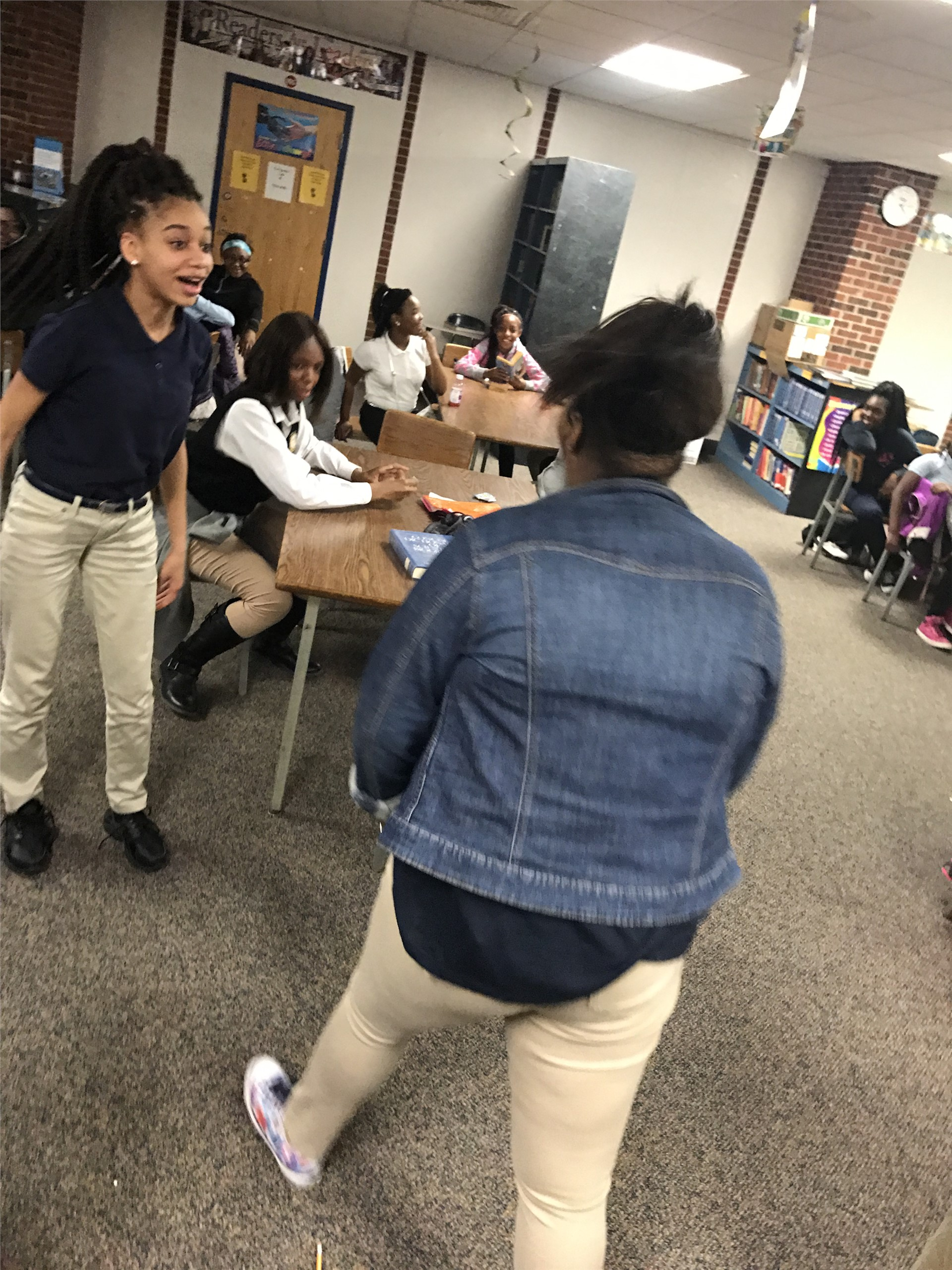 middle school students reenact bullying