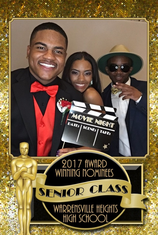 WHHS Prom 2017 (Scholars and staff pose inside the photo booth)