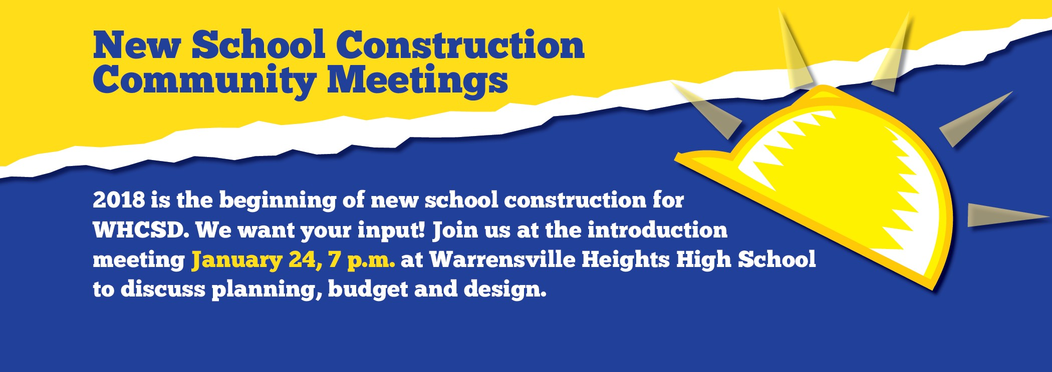 Graphic for January 24 new school construction meeting