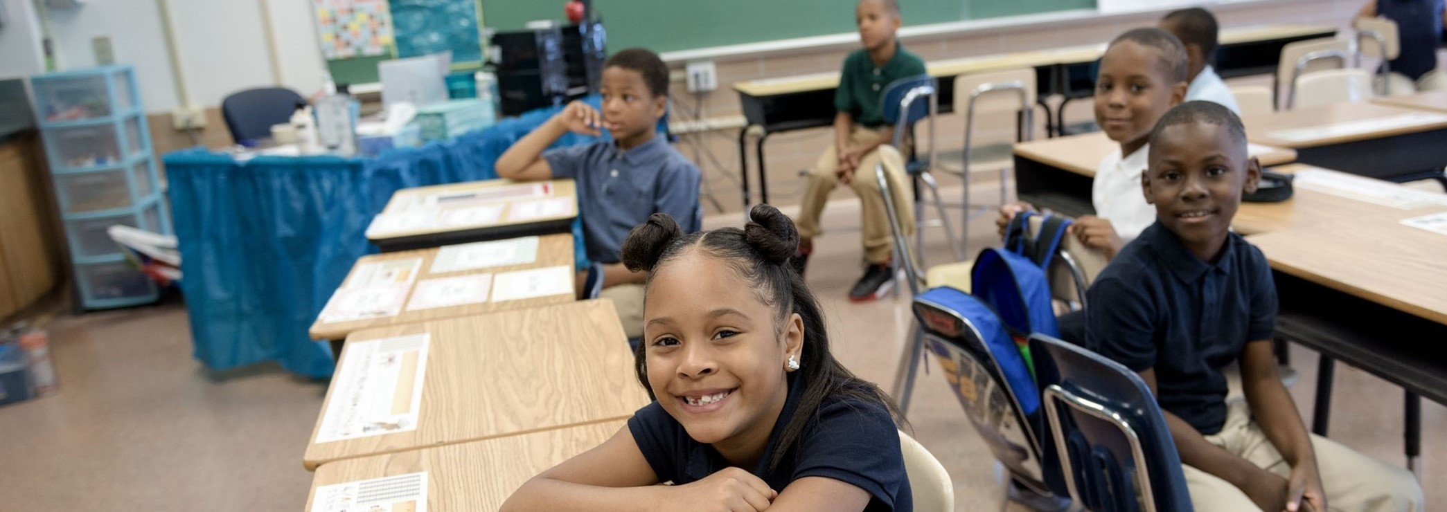 Westwood Elementary students on the first day of school