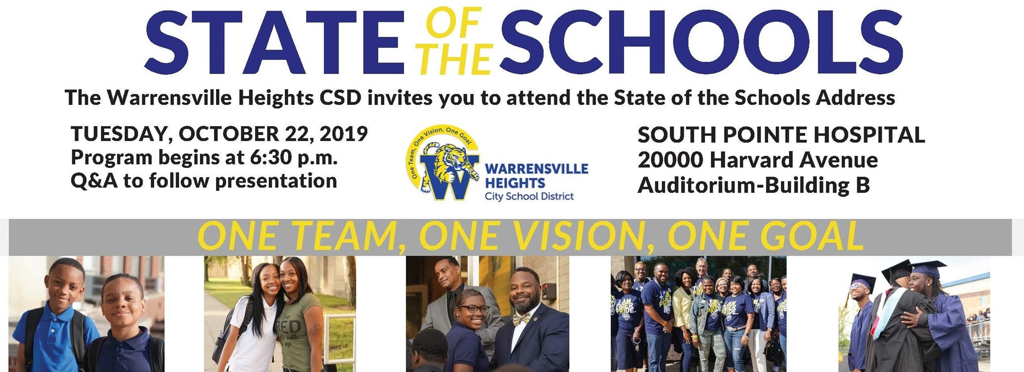 Join Us! State of the Schools, October 22nd