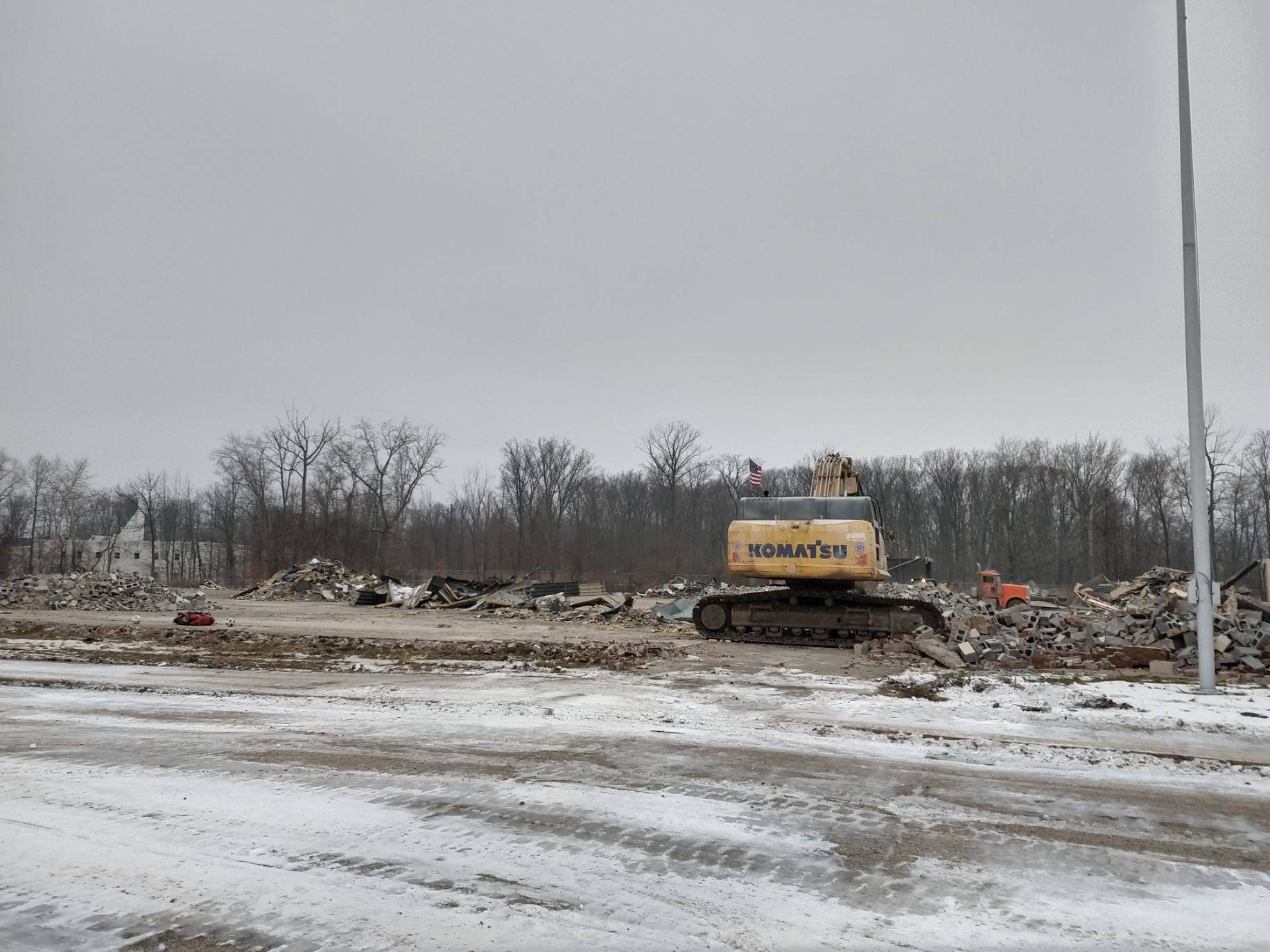 Building is now down