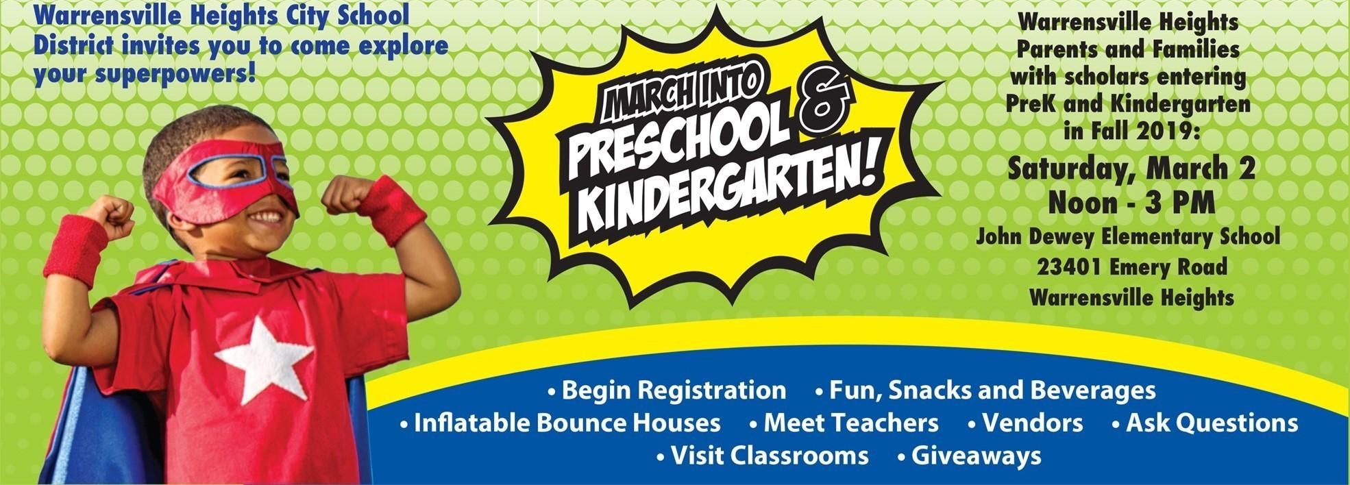 Marching into Preschool and Kindergarten Event Info