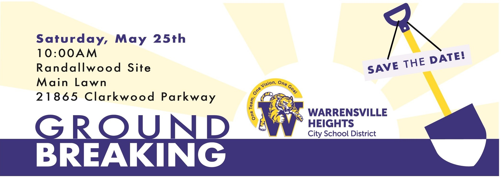 May 25th Groundbreaking for new school
