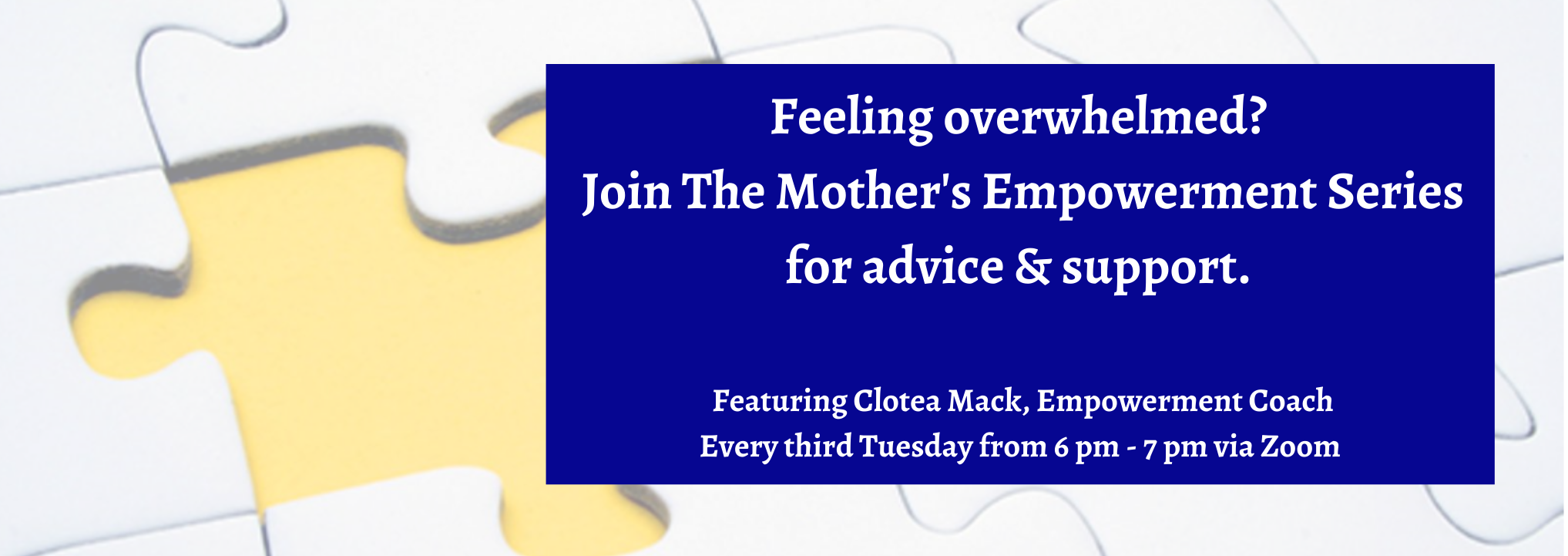 Mothers Empowerment Series Information