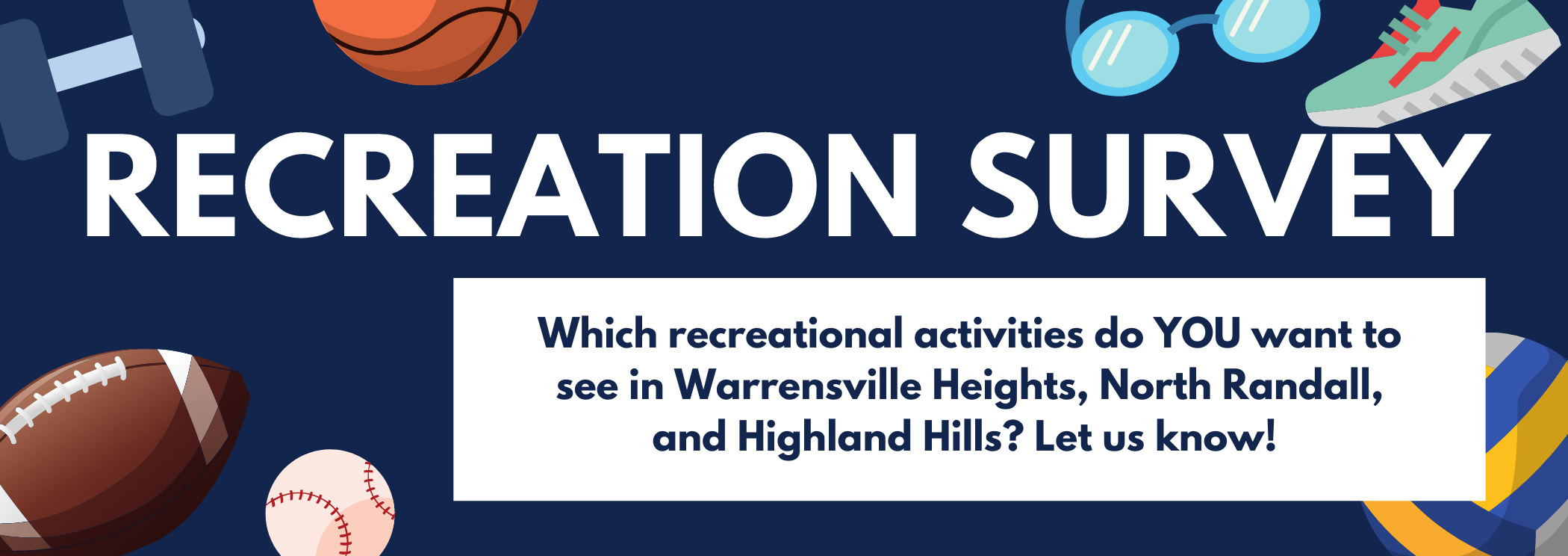 take the recreational survey today