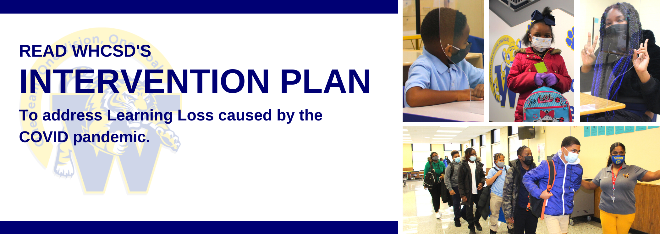 READ WHCSD's Intervention plan to address learning loss caused by the covid pandemic