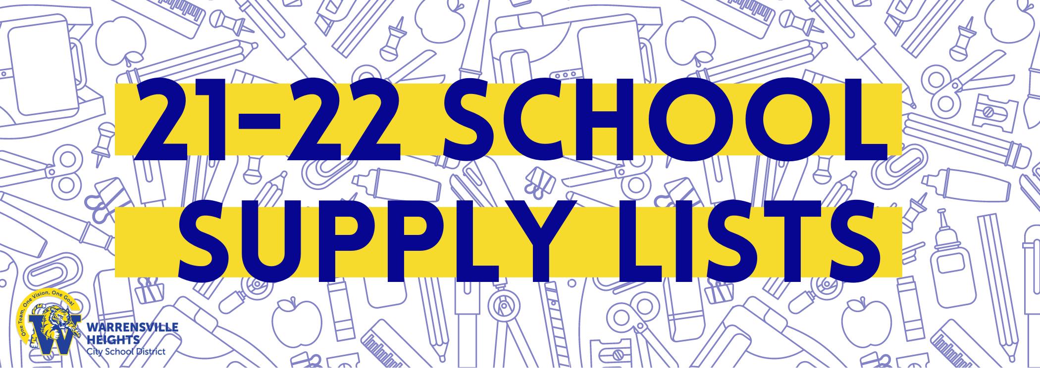 21 22 school supply list